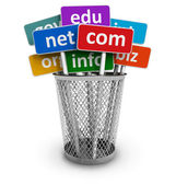 Domain names and internet concept — Foto de Stock