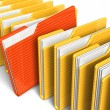 Row of file folders — Stock Photo
