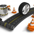 Road construction concept — Foto Stock