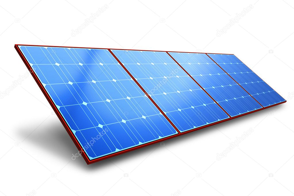 Solar battery panel — Stock fotografie #5612048