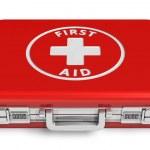 případ červeného první pomoc — Stock fotografie