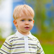 Portrait of little boy outdoors — Stock Photo