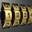 Stock Photo: 4-digit combination lock