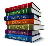 Stapel van woordenboeken — Stockfoto