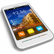 Stock Photo: Stylish white touchscreen smartphone