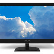 ������, ������: Widescreen TFT display with blue sky