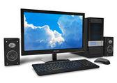 Computador desktop. — Fotografia Stock