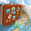 Stock Photo: Travel around the world concept