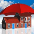 Real estate insurance concept — Stock Photo