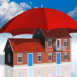 Real estate insurance concept - Stock Photo