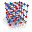 Stock Photo: Molecular structure model