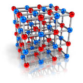 Molecular structure model — Stock Photo