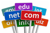 Domain names and internet concept — Stock Photo