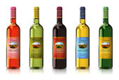 Set of wine bottles — Stock Photo
