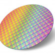 Silicon wafer with processor cores — Stok Fotoğraf #5935701