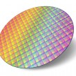 Stock Photo: Silicon wafer with processor cores