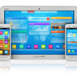 Tablet PC and smartphones — Stock Photo #5988813
