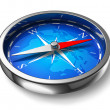 Blue metal compass — Stockfoto