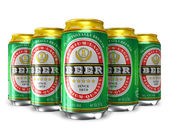 Set of beer cans — Stock Photo