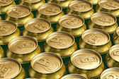 Metal drink cans with beer — Stock Photo