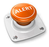 Orange alert button — Stock Photo