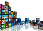 Fotocollage van kubussen met foto 's — Stockfoto