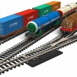 Miniature railroad models - Stock Photo