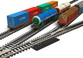 Miniature railroad models — Stock Photo