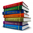 Stack of textbooks - Stock Photo