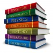 Stack of textbooks — Stock Photo #6432327
