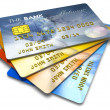 Stock Photo: Set of color credit cards