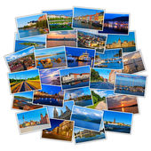 Set of colorful travel photos — Stockfoto