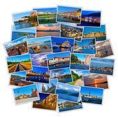 Set of colorful travel photos — Stock Photo