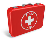 Red first aid case — Stock Photo