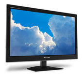 Widescreen TFT display with blue sky — Stock Photo