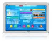 White tablet PC — Stock Photo