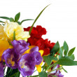 Bouquet of freesias - Stock Photo