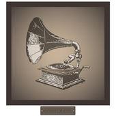 Gramófono — Vector de stock