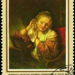 Sovjetunionen - ca 1973 kvinna örhängen — Stockfoto #6261885