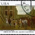 CUBA - CIRCA 1979 Arrival of Spanish Troops — Stock Photo #6262160