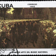 Royalty-Free Stock Photo: CUBA - CIRCA 1982 Procession in Brittany
