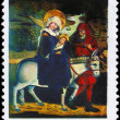 POLAND - CIRCA 1974 Flight into Egypt — Stock Photo