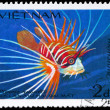 VIETNAM - CIRCA 1984 Lionfish - Stock Photo