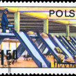 Royalty-Free Stock Photo: POLAND - CIRCA 1979 Parcel Sorting