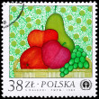 POLAND - CIRCA 1982 Fruit — Stock Photo