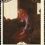 USSR - CIRCA 1979 Working Girl — Stock Photo