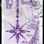 SWEDEN - CIRCA 1978 North Arrow — Stock Photo