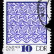 GDR - CIRCA 1974 Plauen Lace — Stock Photo