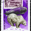 MONGOLIA - CIRCA 1981 Graf Zeppelin and Bear — Stock Photo