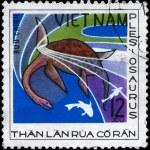 VIETNAM - CIRCA 1978 Plesiosaurus — Stock Photo